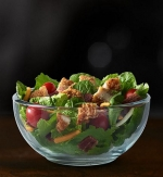 Premium Bacon Ranch Salad (w/o chicken, w/ Newman's Own Low Fat Family Recipe Italian)