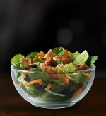 Premium Southwest Salad (w/o chicken, w/ Newman's Own Low Fat Family Recipe Italian)