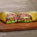 Roast Beef on Spinach Wrap