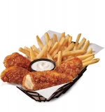 Honey Hot Glazed Chicken Strip Basket (4 pc)